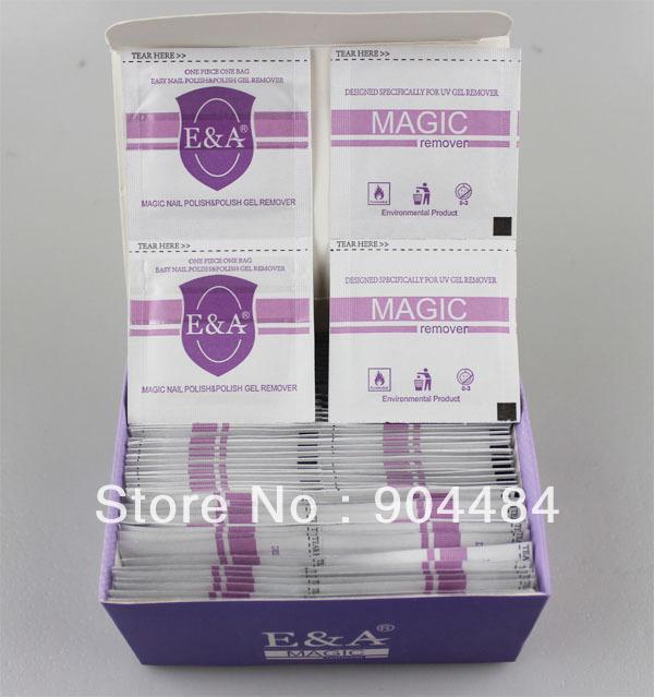 Vernis à ongles magie& polonais remover gel 120 pcs/pack 100% salon de haute qualité des ongles outil de soins easy remover gel uv 638