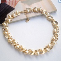 FREE SHIPPING Pearl Short necklace Collarbone chain short chain necklace female clavicle necklace