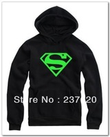 Free shipping 90/100/110/120/130/140/150cm kids hodies super hero superman logo printed hoodie luminous pullover clothing
