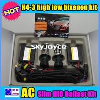 55W HID Hi/Lo xenon Kit H4-3 Freeshipping to Japan Via DHL 10 sets H4 high low beam 55W 6000K