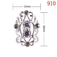 Hollow crystal Alloy Cubic Zircon 910 Metallic Nails art Adornment Decoration Accessories DIY parts Factory wholesale