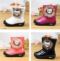 winter warmly  snow boots  child   patent style  zipper  casual boots high top shoes