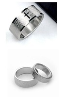 Free Shipping Men's Titanium Steel Ring Lord of The Ring Band Fashion Jewelry Couple Ring  3colors