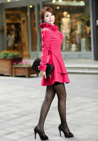 Free shipping Winter Woolen Coat Cashmere Medium-long Women's Outerwear,Wool Coat,Slim Sexy Trench,Large Size Women's Overcoat