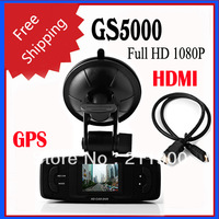 New GS5000 1.5 inch TFT LCD 1080P Full HD GPS Car DVR Built In G-Sensor+1.5inch+H.264 Video Codecr