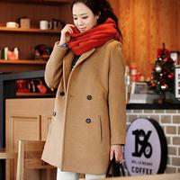 2014 autumn and winter overcoat elegant slim woolen trench elegant female outerwear wool coat 8159