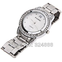 New Free Shipping Luxurious brand quartz watch women fashion rhinestone dress wrist watch roles wath stainless steel 4 colors