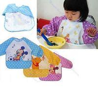 1Pc New Hot Cute Children Baby Todder Waterproof Long Sleeve Art Smock Bib Apron Free Shipping