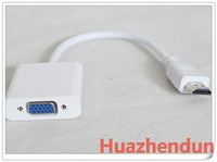 Free shipping via Swiss Post 1pcs/lot  HDMI To VGA Cable,HDMI To VGA Adapter,HDMI To VGA Converter,PP Plastic Bag for vide card