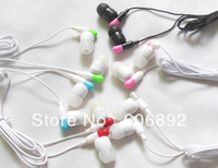 Wholesale 50pc/lot In-ear earphones headphones headsets for Mp3 MP4 MP5 PSP Capsule Style Factory Prices