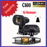 100% Novatek C600 1.5 TFT Screen 1080P HD Car Vehicle Camera with 12 Lights support G-sensor