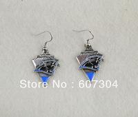 fashion sport  enamel  Carolina Panthers earrings,10pairs a lot,free shipping