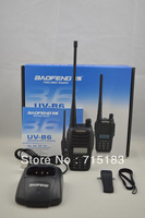 Wholesale radio set UV-B6 2013 New Baofeng UV-B6 Dual Band VHF UHF 5W 99 Channels FM  PMR Portable Two-way Radio Freeshipping