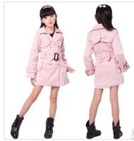 Free shipping!new children's clothing Children's Spring and Autumn fashion windbreaker. Girls long Trench