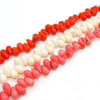 5*9mm 285pcs Fashion Mix Color Single Hole Waterdrop Coral Jewelry Loose Beads for Elegant Necklace&Bracelet Free Shipping HC232