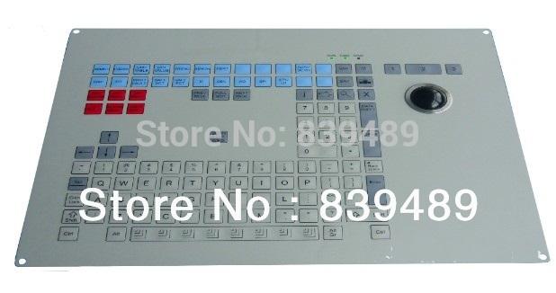 Industrial key board, 123 keys IP65 rated, industrial membrane keyboard, provide custom design services!(China (Mainland))