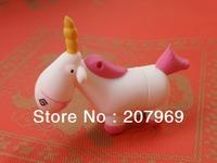 God's love colts cartoon white dragon horse unicorn usb 2.0 memory flash drive 4GB-64GB pen drive Free shipping