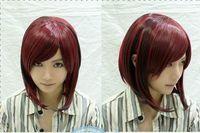 New COS wig wig Burgundy Black Gradient wind Harajuku Sen Female BOBO Head