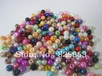 FREE SHIPPING 1000pcs/Lot,  Top Quality 4mm  GLASS PEARL BEADS  MIXED COLOR!!!