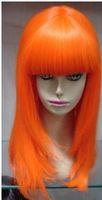 Exquisite orange wig synthetic fiber straight hair / wigs+cap