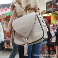 Korean Tassel Fringe  Bags Lady Women's Girls Handbag Shoulder Bag , Free & Drop Shipping, 2 Color Available