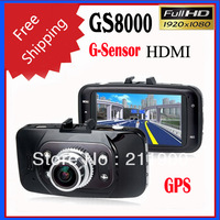 2013 new Ambarella GS8000 1080P2.7 inch LCD Screen GPS Car DVR 5.0MP CMOS Sensor