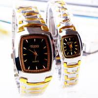 Digital fashion rhinestone steel watch quartz watch mens watch gift watch