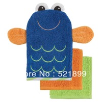 Luvable Friends 100% Cotton Baby Wash Mitt +2 Washcloths Set