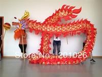 18m Length Size 3 silk print fabric  red Chinese DRAGON DANCE ORIGINAL Dragon Chinese Folk Festival Celebration Costume