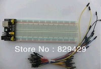 MB-102 830 points Solderless Prototype Bread board kit+3.3V/5V MB102 Breadboard power module +65 Flexible jumper wires
