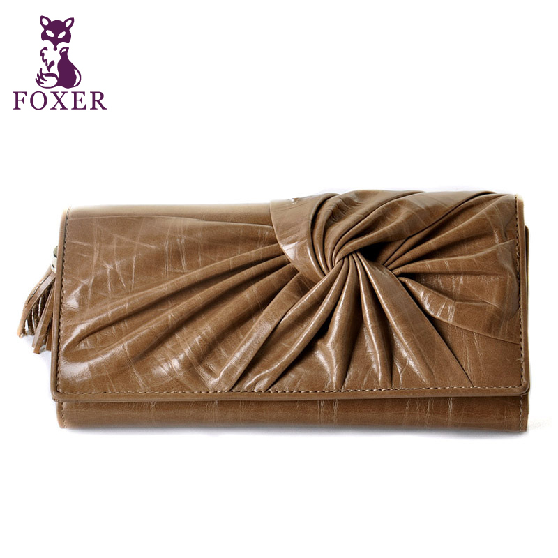 Wolsey women's bag female wallet clutch bag wallet genuine leather fashion long design bag(China (Mainland))