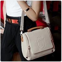 New arrival fashion vintage 2013 shield badge double zipper one shoulder cross-body handbag women's handbag
