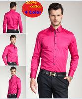 men shirt  Spring  new 100% cotton Brand   long-sleeve Business  Casual Slim fit  shirts   XS S M L XL XXL XXXL