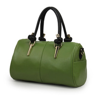 Bag 2013 three-dimensional shaping bag bags casual bag drum color block handbag women's tieclasps