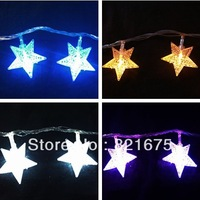 FREE SHIPPING 6M led christmas lights holiday decoration outdoor led christmas light nets christmas garland with  star lights