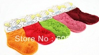 2013 Children Sock, Kids Socks, Children Winter Candy Color Socks  five colors(3 size) mix 10pcs/a lot+Free Shipping, OEM