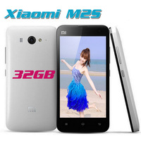 Original Xiaomi M2S Quad-core 1.7Ghz 2G RAM+16G Mobile Phones Android 4.1+ MUNI V5 4.3''IPS Screen 8MP/2.0MP Camera