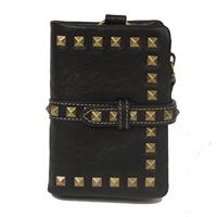 Punk fashion short design women's rivet genuine leather wallet coin purse m3011