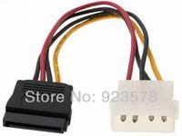 [DHL FREE SHIPPING!] WHOLESALE 500pcs/lot  10cm 4P Molex / IDE to 15P Serial ATA SATA Power Cable IDE to SATA Hard Drive Cable