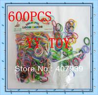 Free ship  2bag/  600pcs/bag rubber bandsDIY bracelet  loom kits rubber bands loom kit DIY bracelets Christmas gift present