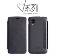 for lg google nexus 5 leather case flip cover with nillkin v series