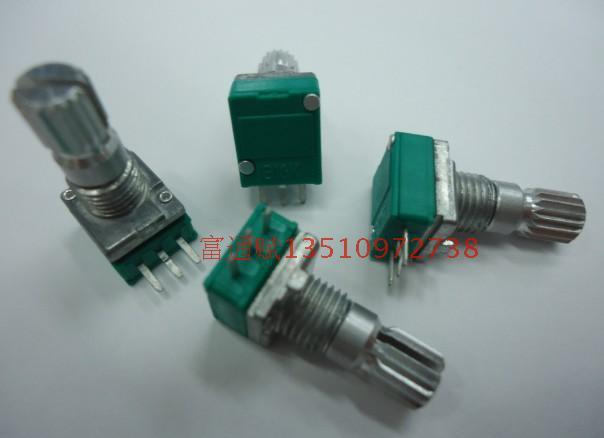 [BELLA]Crown units producing precision potentiometers Single R09-B10K-15 rachis 1k5k20K50K100K500k Spot--10PCS/LOT(China (Mainland))