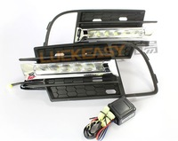 New Tiguan 2013 2014 Daytime Running Light LED Daylight DRL Top Quality Auto Car DRL Fog Lamp Free HK Post Fast!