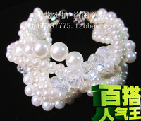 Accessories beautiful pearl multi-layer beads knitted all-match bracelet female jewelry