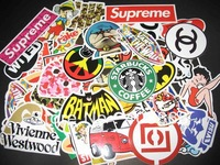 NEW 80pc Mixed Skateboard Surfboard Laptop Car Guitar Stickers 80 Random Decorative Stickers FREE SHIPPNG