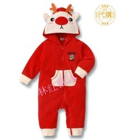 Carters 2014 Baby girl boy romper Baby Christmas Reindeer bodysuits,Newborn xmas rompers baby clothing
