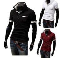2013 Fashion New Short Sleeve T-Shirt Men,Brand Quality Summar Slim T-Shirt For man,Casual&Sports Design Tees,Drop&Free Shipping