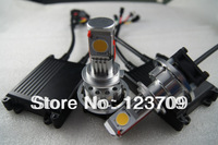 Aluminium Housing H4/H7 Socket 12V 50W 1800LM Car LED Headlight With 4xCob Cree LED Chip Made In China