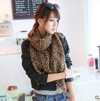 New Style Fashion Hot Leopard wool Scarf  Women Warm animal print Leopard favorite super star shawl