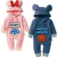 Carters Retail Mickey Minnie Romper  winter Kids clothing baby romper newborn romper Baby girls boys Rompers